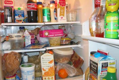 WTOP refrigerator (WTOP Photo/Colleen Kelleher)