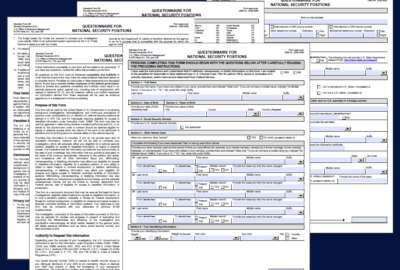 SF-86 security clearance forms.