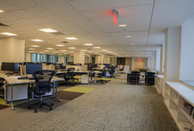 The General Services Administration tore down walls in its headquarters building to create an open-office design in 2013.