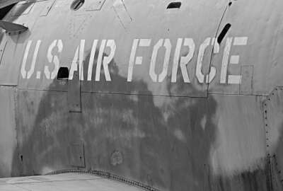 Logo of the U.S Air Force on a jet