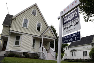 This Tuesday, May 24, 2016, photo shows a home for sale in Andover, Mass. On Tuesday, June 28, 2016, the Standard & Poor's/Case-Shiller 20-city home price index for April  is released. (AP Photo/Elise Amendola)