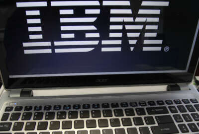 FILE - In this July 16, 2013, file photo, an IBM logo is displayed in Berlin, Vt. IBM reports financial results Monday, July 18, 2016. (AP Photo/Toby Talbot, File)