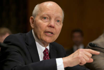 FILE - In this June 2, 2015 file photo, Internal Revenue Service (IRS) Commissioner John Koskinen testifies on Capitol Hill in Washington. House Oversight Committee Chairman Rep. Jason Chaffetz, R-Utah, has moved to impeach Koskinen, saying he has violated the public trust and obstructed congressional investigations into the treatment of conservative groups. (AP Photo/Jacquelyn Martin, File)