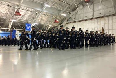 Members of the Air Force Band and Honor Guard say playing for the Inauguration is like  performing for most other events, but the excitement builds when the band turns on Pennsylvania Avenue and approaches the President.
