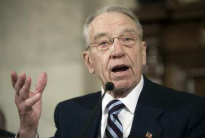 Senate Judiciary Committee Chairman Sen. Charles Grassley, R-Iowa speaks on Capitol Hill in Washington, Wednesday, Jan. 11, 2017, on the second day of a confirmation hearing for Attorney General-designate, Sen. Jeff Sessions, R-Ala. (AP Photo/Cliff Owen)