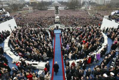President-elect Donald Trump arrives during the 58th Presidential Inauguration at the U.S. Capitol in Washington, Friday, Jan. 20, 2017. (AP Photo/Carolyn Kaster)