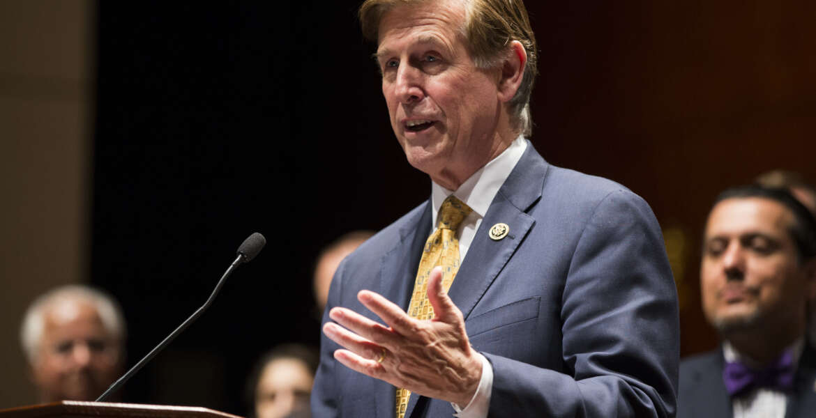 Rep. Don Beyer, D-Va. speaks during a news conference on Capitol Hill in Washington, Wednesday, May 11, 2016, on the introduction of the Freedom of Religion Act. (AP Photo/Evan Vucci)