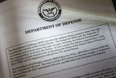 Proposals for the Defense Department in President Donald Trump's first budget are displayed at the Government Printing Office in Washington, Thursday, March, 16, 2017. An essential element is missing from President Donald Trump's plan for boosting the budgets of the U.S. military services by $54 billion in 2018. How, exactly, does the commander in chief intend to use the world's most potent fighting force? (AP Photo/J. Scott Applewhite)