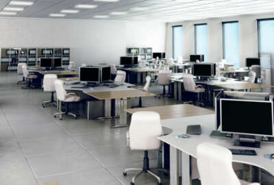 Modern empty office interior