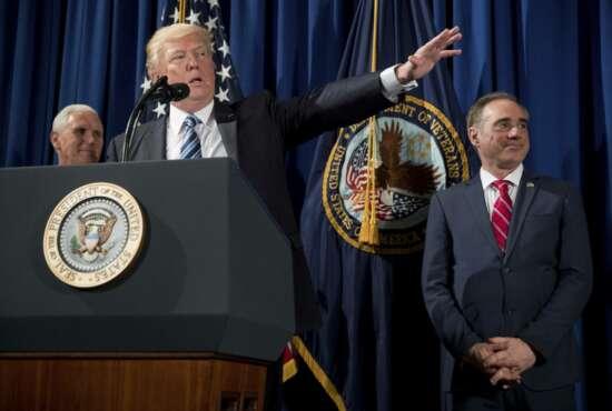 Donald Trump, David Shulkin, Mike Pence