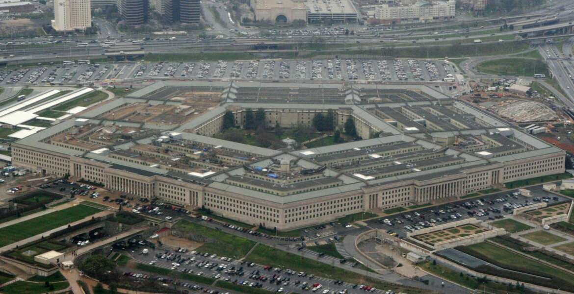 In this photo taken March 27, 2008, the Pentagon is seen in this aerial view. Reports of sexual assaults in the military increased slightly last year, U.S. defense officials said Monday, May 1, 2017, and more than half the victims reported negative reactions or retaliation for their complaints.  (AP Photo/Charles Dharapak)