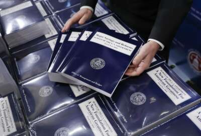 FILE - In this May 23, 2017 file photo, copies of President Donald Trump's fiscal 2018 federal budget are seen on Capitol Hill in Washington. Even members of his own party last month were quick to declare President Donald Trump's budget plan dead on arrival. And in fact, Congress faces a burst of overdue budget-related work this summer, most of which probably won't bear much resemblance to Trump's budget, which promised deep spending cuts on domestic programs, rapid economic growth, and a balanced federal ledger in a decade.  (AP Photo/Pablo Martinez Monsivais, File)