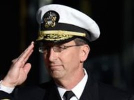 Rear Adm. David J. Hahn relieves Rear Adm. Mat W. Winter as the chief of naval research (CNR) during a change-of-command ceremony at the U.S. Navy Memorial in Washington, D.C. on November 18, 2016.