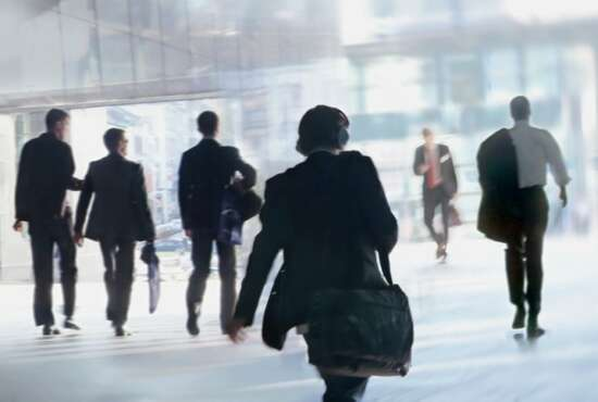 People Walking to Work.