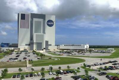 This July 14, 2017, photo shows the Vehicle Assembly Building at NASAs Kennedy Space Center in Cape Canaveral, Florida in Cape Canaveral, Fla. NASA says it may soon have the capability to send astronauts to the International Space Station from U.S. soil for the first time since the retirement of the space shuttle in 2011. (AP Photo/Alex Sanz)