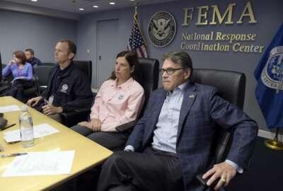 Elaine Duke, Brock Long, Rick Perry