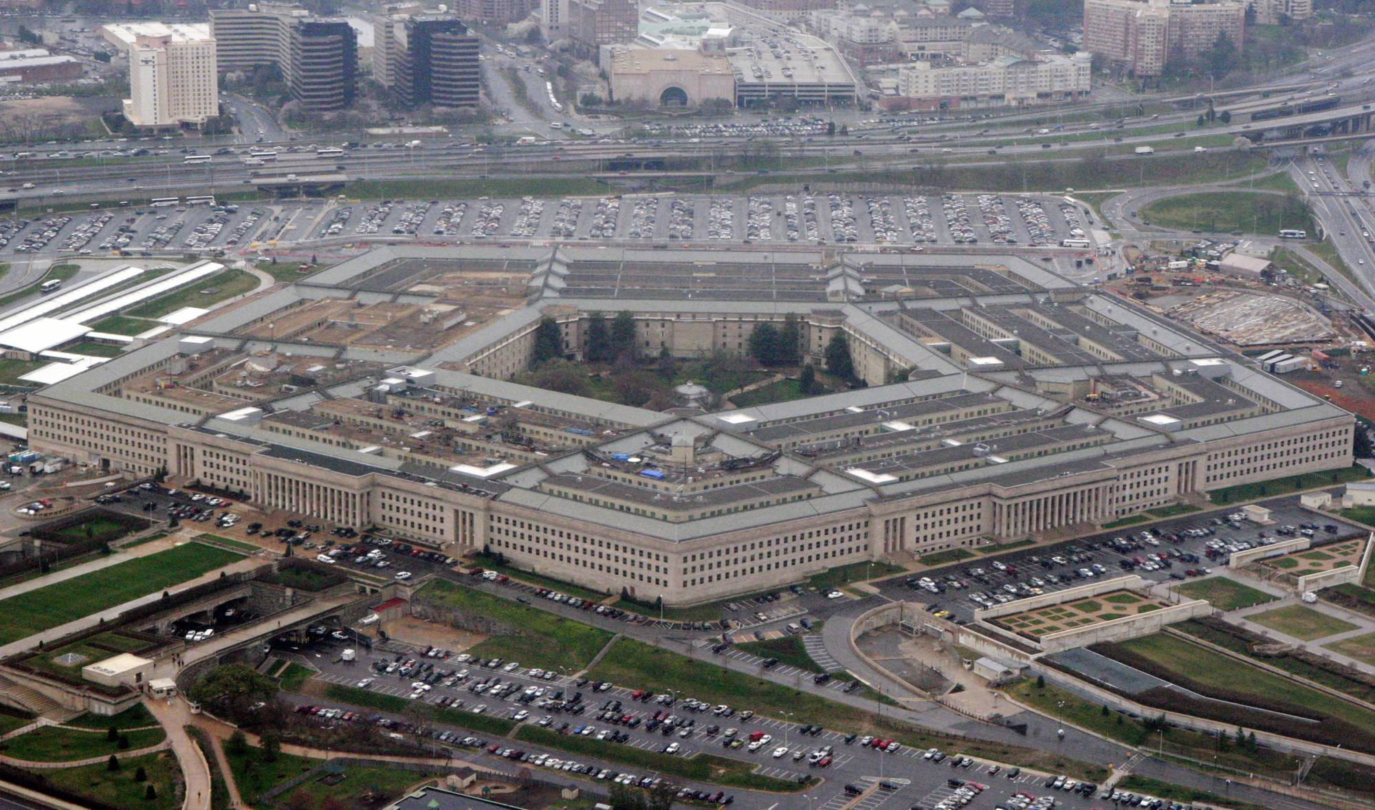 FILE - In this March 27, 2008, file photo, an aerial view of the Pentagon. The Army is putting together a series of new mental health, counseling and career management programs to shape stronger, more ethical leaders. The move is an effort to grappling with an embarrassing rash of misconduct and behavior problems among senior officers. (AP Photo/Charles Dharapak, File)