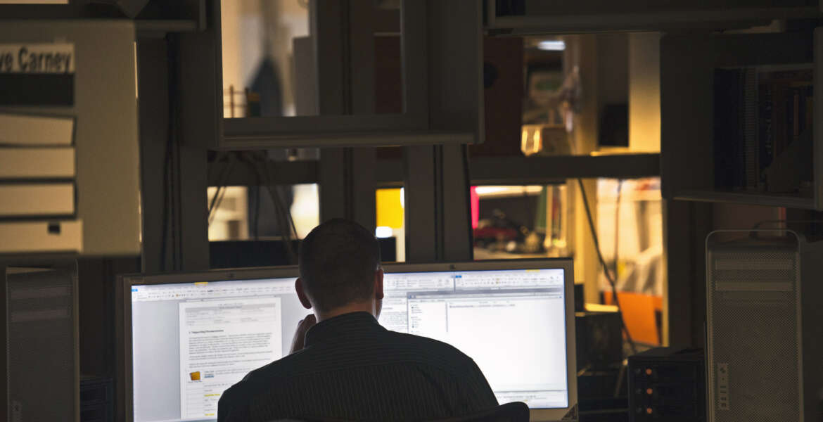 A computer forensic examiner looks for evidence on hard drives at the Department of Defense Cyber Crime Center in Linthicum, Md., Thursday, Aug. 11, 2011. Hackers and hostile nations are launching increasingly sophisticated cyberattacks against U.S. defense contractors. And the Pentagon is extending a program to help protect its prime suppliers, while serving as a possible model for other government agencies. Pentagon analysts are investigating a growing number of cases involving the mishandling or removal of classified data from military and corporate systems. Defense officials say intrusions into defense networks are now close to 30 percent of the Pentagon's Cyber Crime Center's workload. (AP Photo/Cliff Owen)