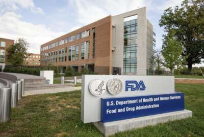 FILE - This Oct. 14, 2015, file photo, shows the U.S. Food & Drug Administration campus in Silver Spring, Md. On Monday, Nov. 13, 2017, the FDA approved the first drug in the United States with a digital ingestion tracking system, in an unprecedented move to ensure that patients with mental illness take the medicine prescribed for them. The drug Abilify MyCite was developed by Otsuka Pharmaceutical Co., Ltd. (AP Photo/Andrew Harnik, File)
