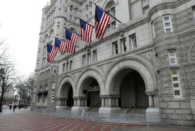 FILE- This Dec. 21, 2016, file photo shows the Trump International Hotel in Washington. (AP Photo/Alex Brandon, File)