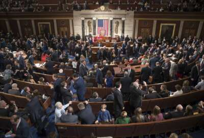 Members of the House of Representatives, some joined by family, gather in the House chamber on Capitol Hill in Washington, Tuesday, Jan. 3, 2017, as the 115th Congress gets under way. (AP Photo/J. Scott Applewhite)