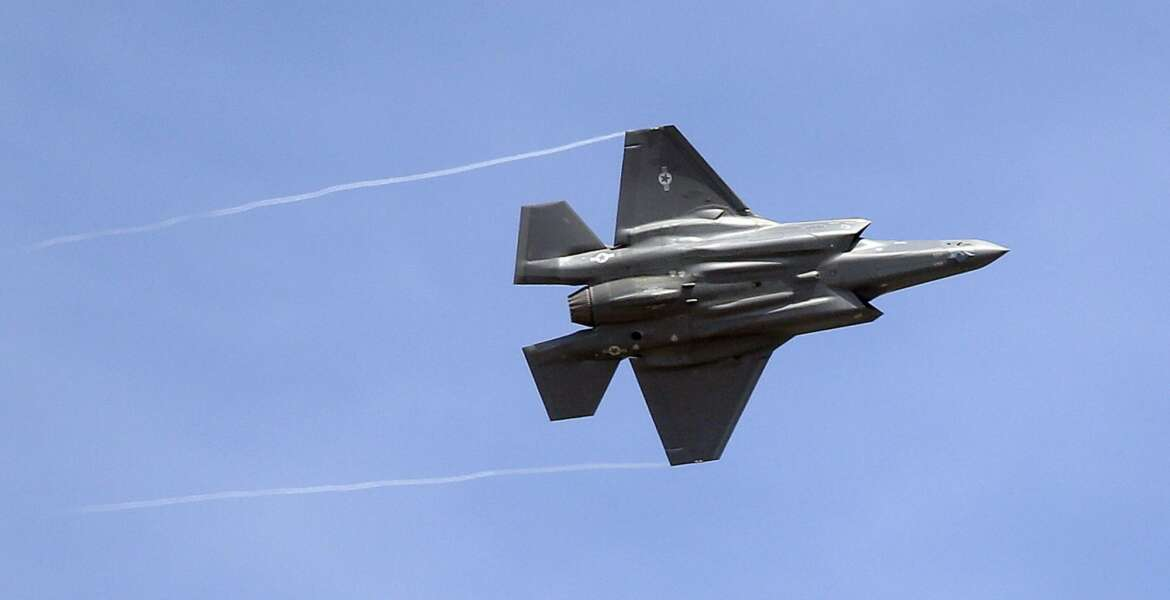 """FILE - In this Sept. 2, 2015, file photo, an F-35 jet arrives at its new operational base at Hill Air Force Base, in northern Utah. The top U.S. diplomat overseeing arms sales said Monday, Feb. 5, 2018, she would be promoting American weaponry at the largest air show in Asia, where China's military footprint and political influence are surging. A large U.S. delegation at the Singapore Air Show is doing """"everything we can"""" to encourage Southeast Asian governments to purchase U.S.-made arms like the F-35 fighter jet, Ambassador Tina Kaidanow told reporters in a telephone briefing. She repeatedly sought to dispel the notion that U.S. influence was in retreat. (AP Photo/Rick Bowmer, File)"""