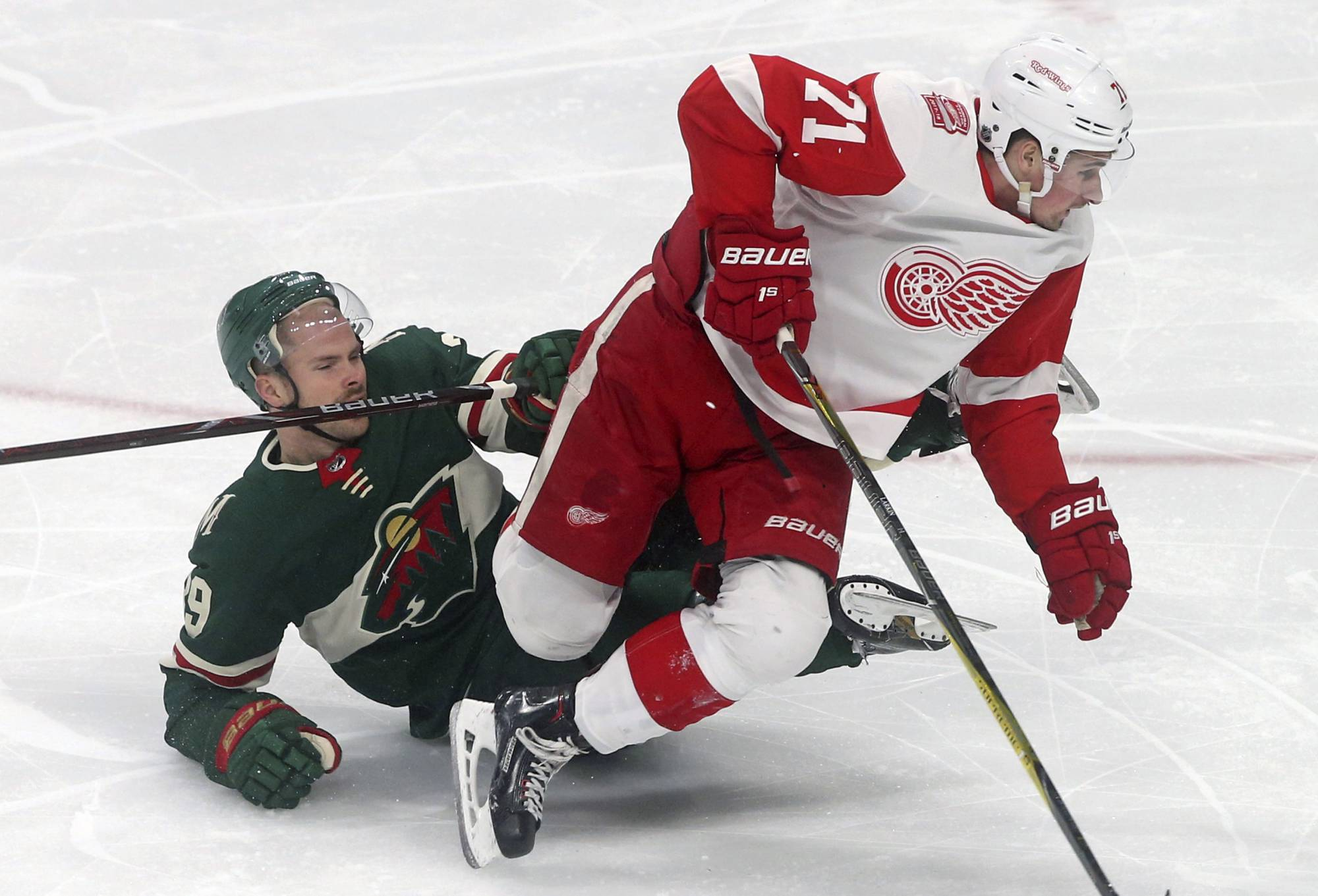 Wild Snap Skid With 4 1 Win Over Red Wings Federal News Network