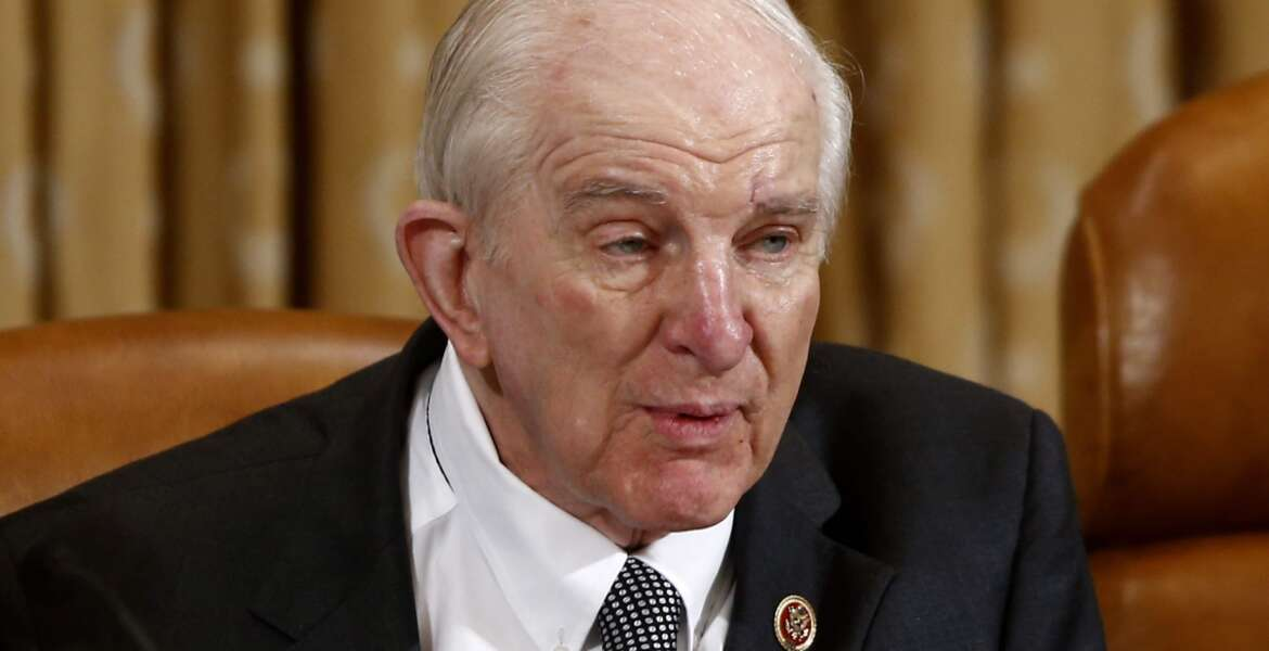 FILE - In this June 4, 2013 file photo, Rep. Sam Johnson, R-Texas speaks on Capitol Hill in Washington. He is one of four veteran Texas Republicans who are quitting Congress, meaning their state will be trading House seniority for newcomers who may be even more conservative.(AP Photo/Charles Dharapak, File)