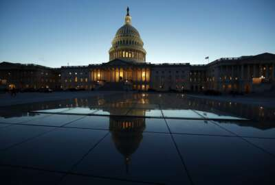 In this March 5, 2018 photo, the East Front of the U.S. Capitol at sunset in Washington. The Senate passed bipartisan legislation Wednesday designed to ease bank rules that were enacted to prevent a relapse of the 2008 financial crisis that caused millions of Americans to lose their jobs and homes.  (AP Photo/Alex Brandon)
