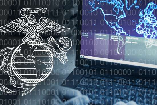The Marine Corps Systems Command's Cyber Advisory Team completed its first emergency cyber acquisition as part of a new process designed to more quickly respond to the cyber warfighting needs of the force. The CAT quickly analyzes, distinguished, prioritizes and tracks cyber acquisition processes in order to provide more responsive and effective support to Marine Corps cyber forces. (U.S. Marine Corps illustration by Jennifer Sevier)