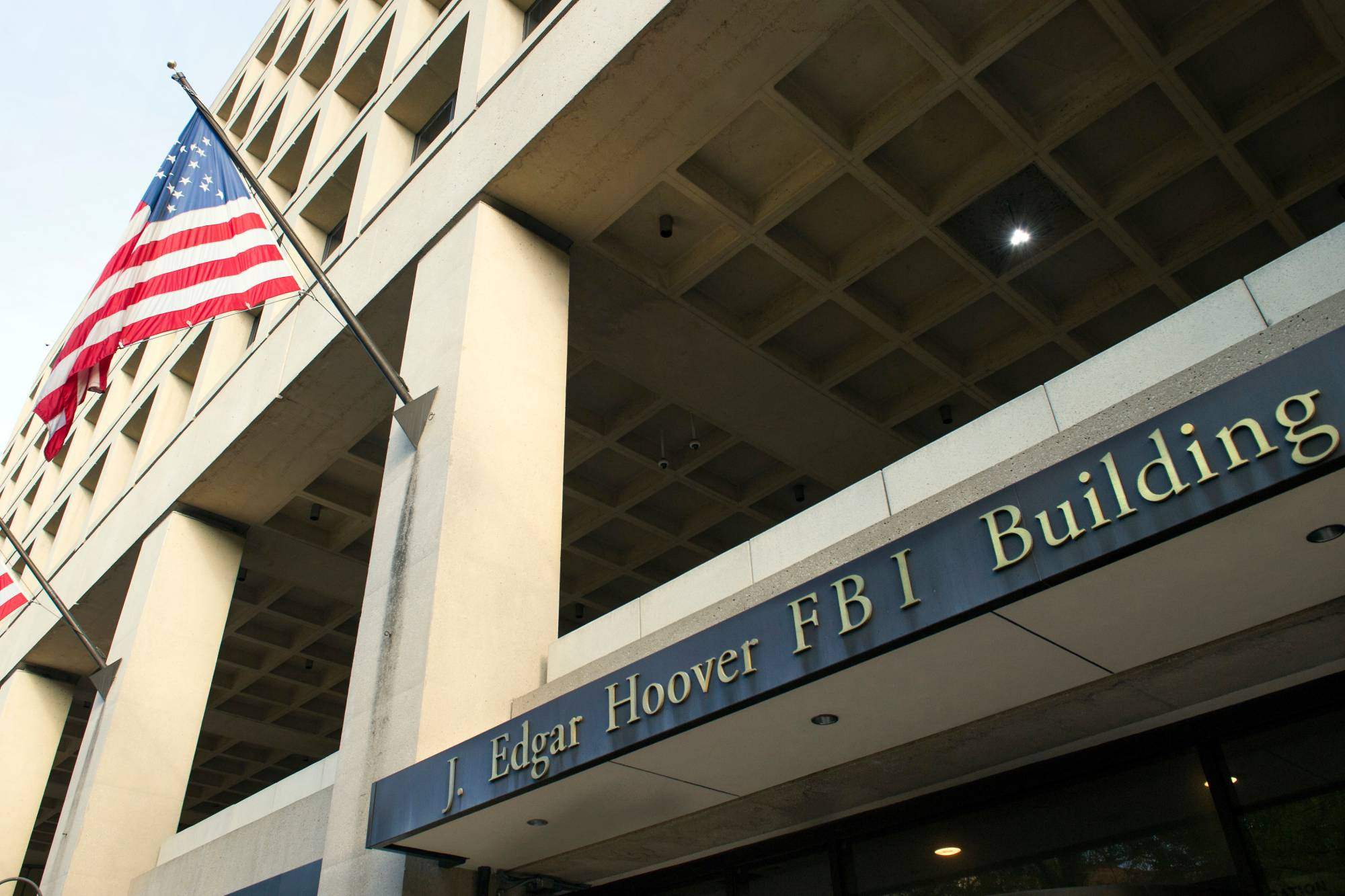 FILE - In this Nov. 2, 2016, file photo, the FBI's J. Edgar Hoover headquarter building in Washington. An FBI terrorism investigation that concluded last week with a 20-year prison sentence is atypical since it involves a defendant in the United States receiving funds from abroad to commit an attack locally.  (AP Photo/Cliff Owen, File)
