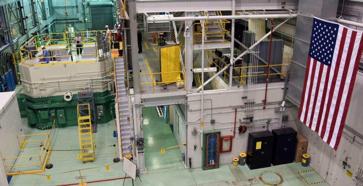 FILE - This Nov. 14, 2017, file photo, provided by the Idaho National Laboratory shows the Idaho National Laboratory Transient Reactor Test Facility in Idaho Falls, Idaho. Federal officials say there are no injuries at the nuclear facility in eastern Idaho following the release of radioactive material from a ruptured 55-gallon (208-liter) barrel inside a containment structure. The U.S. Department of Energy in a statement Thursday, April 12, 2018, says the breach occurred late Wednesday at the 890-square-mile (2,305-square-kilometer) site that includes the Idaho National Laboratory. (Chris Morgan/Idaho National Laboratory via AP, File)
