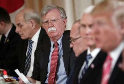 Donald Trump, John Kelly, John Bolton, Larry Kudlow, Mike Pence