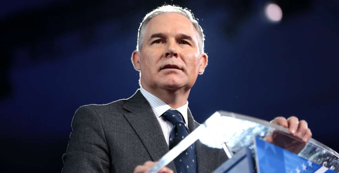 Attorney General Scott Pruitt of Oklahoma speaking at the 2016 Conservative Political Action Conference (CPAC) in National Harbor, Maryland.    Please attribute to if used elsewhere.
