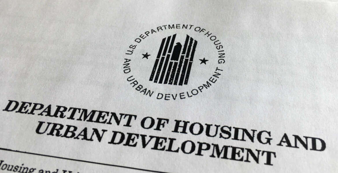 A portion of President Donald Trump's first proposed budget, focusing on the Department of Housing and Urban Development, and released by the Office of Management and Budget, is photographed in Washington, Wednesday, March 15, 2017. (AP Photo/Jon Elswick)