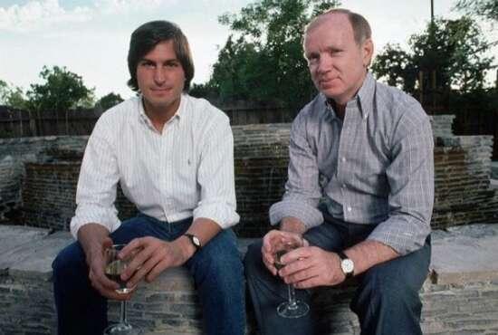 Group photo of Steve Jobs and Regis McKenna