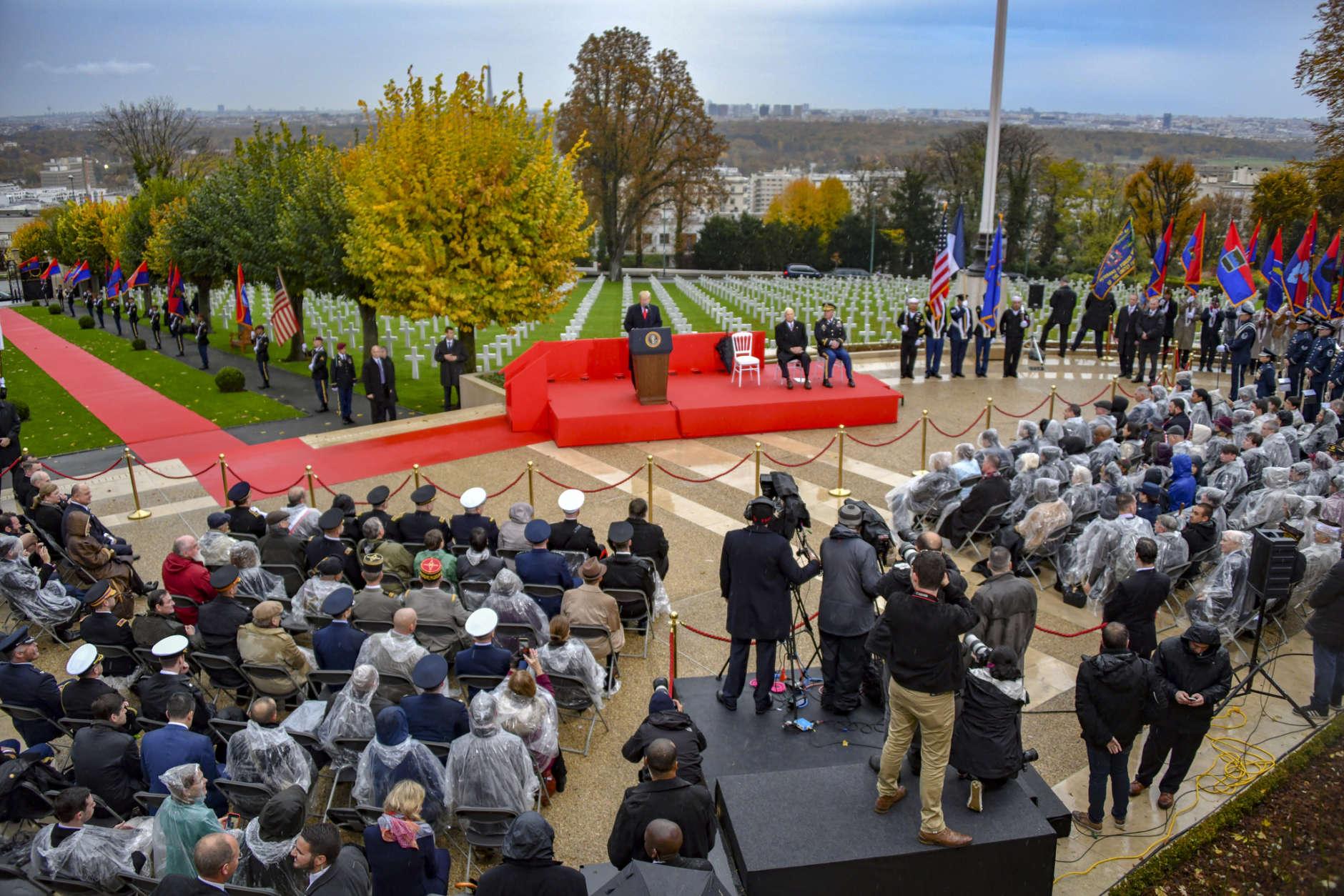 PHOTOS: US, France commemorate Armistice Day centennial ...