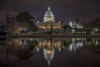 The Capitol is seen early morning in Washington, Friday, Nov. 30, 2018. (AP Photo/J. Scott Applewhite)