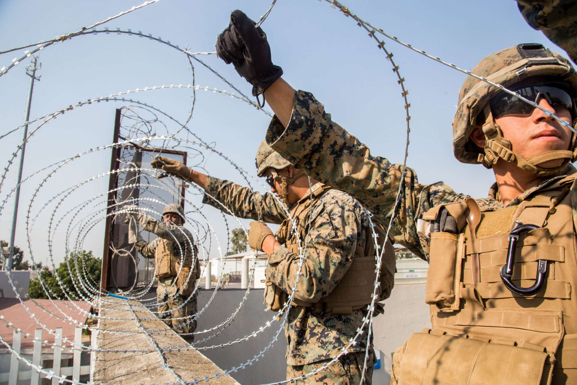 Navy Surgeon Performs Emergency Appendectomy Aboard Ship Federal Wiring Money Us Marines Place Concertina Wire At The Otay Mesa Port Of Entry In California On Nov 11 Northern Command Is Providing Military Support To