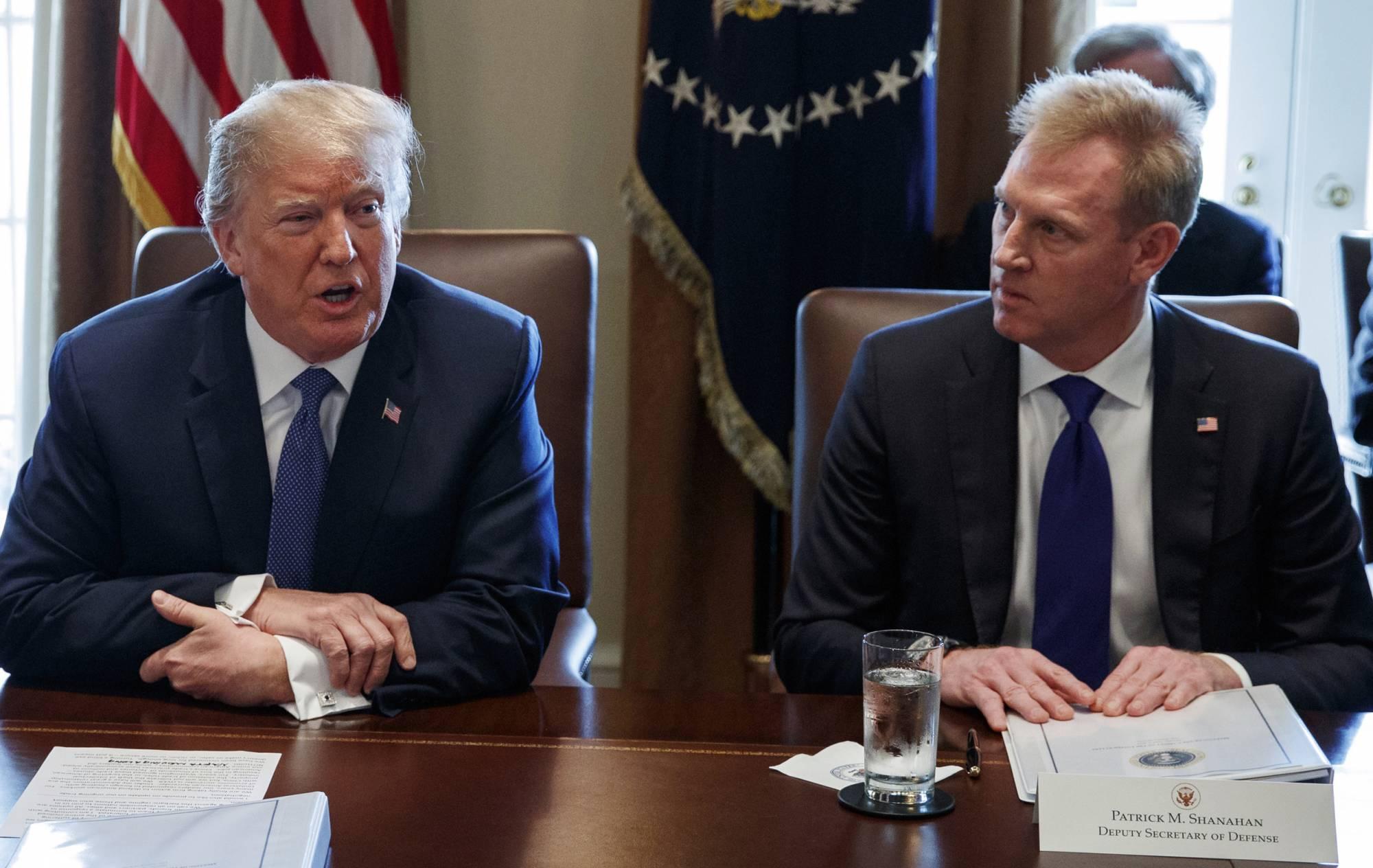 Donald Trump, Patrick Shanahan, John Sullivan