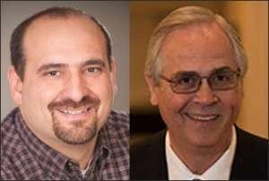 Head shots of Jason Miller and Bill Gormley
