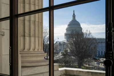 FILE- This Dec. 27, 2018, file photo shows the Capitol Dome from the Russell Senate Office Building in Washington during a partial government shutdown. On Thursday, Jan. 24, 2019, the Labor Department reports on the number of people who applied for unemployment benefits last week. (AP Photo/J. Scott Applewhite, File)