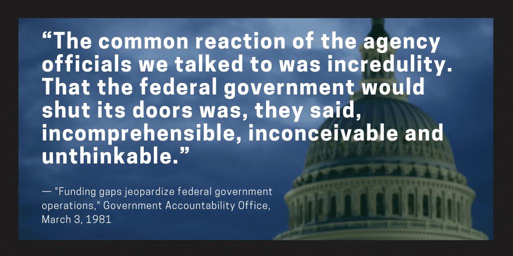 Government shutdowns: Once 'incomprehensible, inconceivable