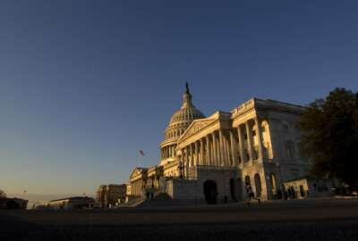 The U.S. Capitol is seen during a sunrise in Washington, Wednesday Feb. 27, 2019. Michael Cohen, President Donald Trump's former personal lawyer, will testify today before the House Oversight and Reform Committee in an open hearing. (AP Photo/Jose Luis Magana)