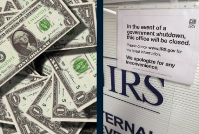 pay raise government shutdown money IRS
