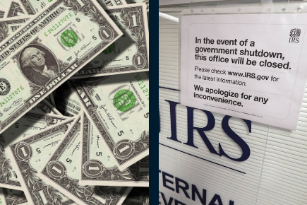 pay raise government shutdown money IRS