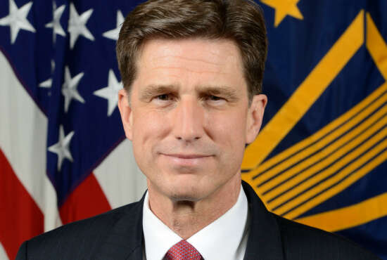 Dana Deasy Department of Defense, Chief Information Officer, poses for his official portrait in the Army portrait studio at the Pentagon in Arlington, Virginia, May 07, 2018.  (U.S. Army photo by William Pratt)