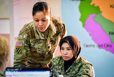 Army National Guard soldiers women Malaysia