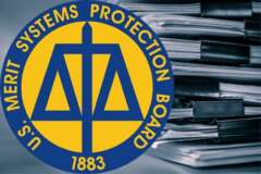 Merit Systems Protection Board, files, seal, stack, papers