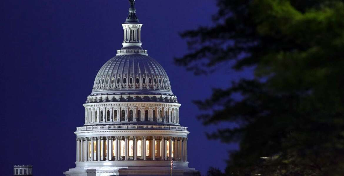 The dome of the U.S. Capitol early Thursday, April 18, 2019, in Washington. The Justice Department is expected to release a redacted version of special counsel Robert Mueller's report on Russian election interference and President Donald Trump's campaign. (AP Photo/Patrick Semansky)